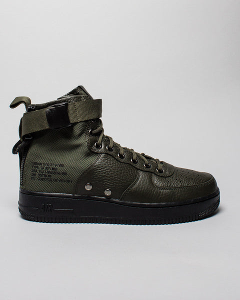 SF AF1 Mid Sequoia/Black Nike Mens Sneakers Seattle