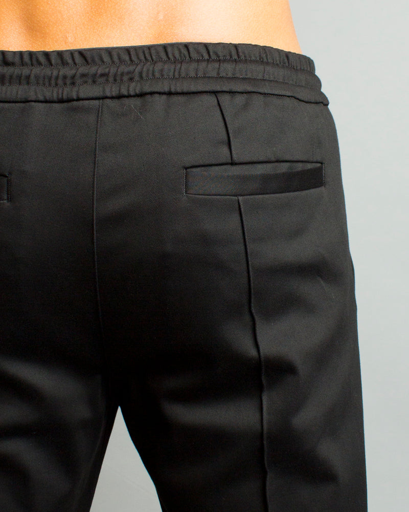 Drawstring Cotton Pant Black