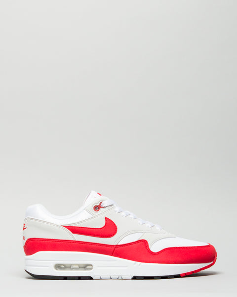 Air Max 1 Anniversary White/University Red Nike Mens Sneakers Seattle