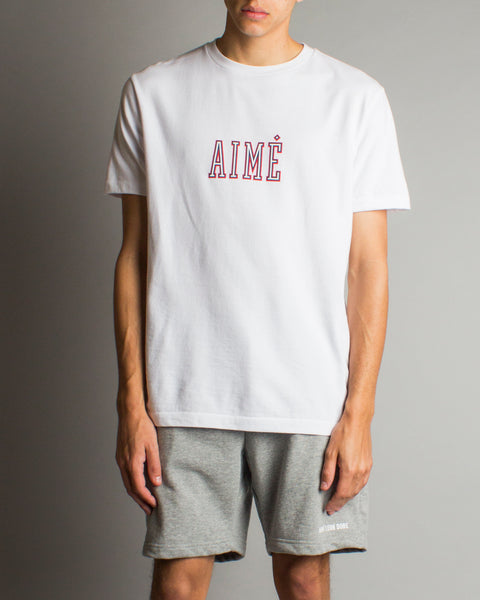 Varsity Aime Tee White/Red Aimé Leon Dore Mens Sneakers Seattle