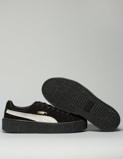 Suede Creepers Black /White Mens 2