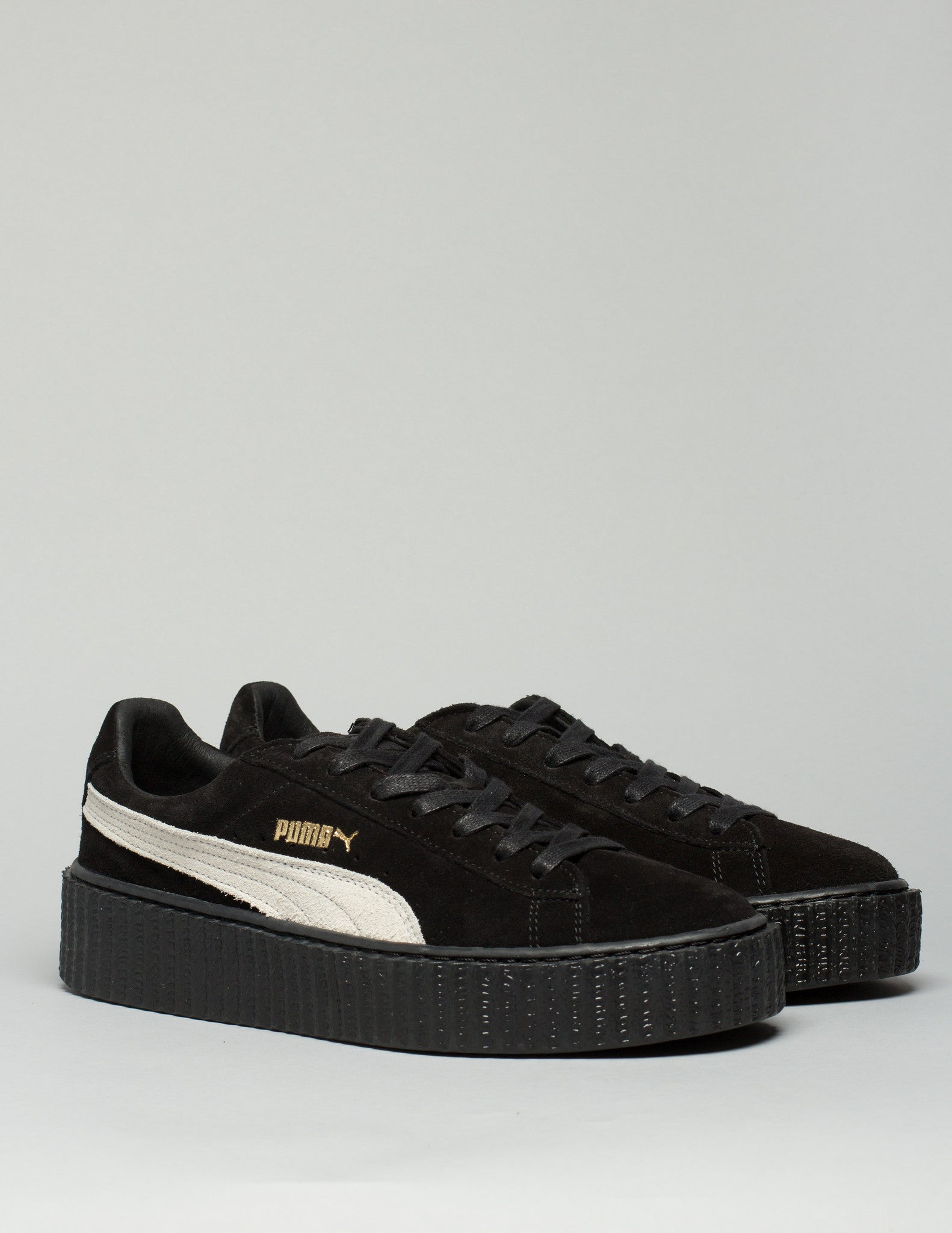 Suede Creepers Black /White Mens