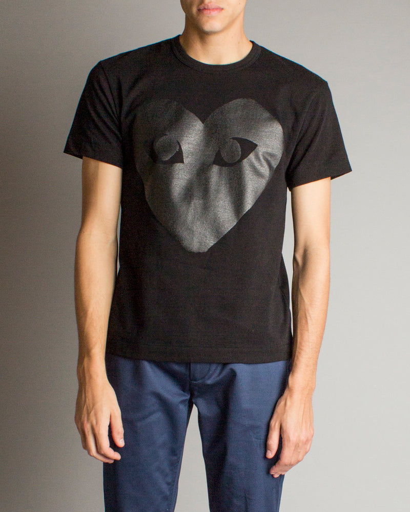 Tonal Big Heart T-Shirt Black