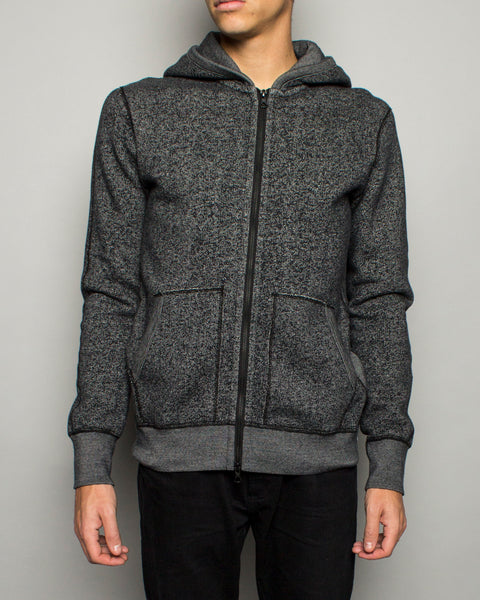 Knit Tiger Fleece Full Zip Hoodie Black Reigning Champ Mens Sneakers Seattle