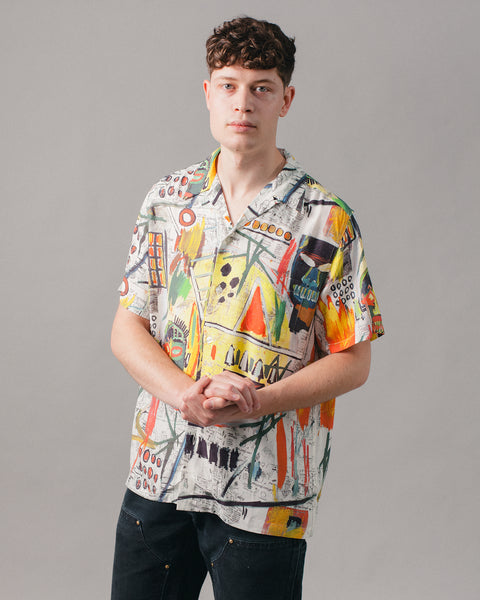 Jean-Michel Basquiat Hawaiian SS Shirt (Type-2) Multi