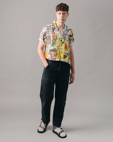 Jean-Michel Basquiat Hawaiian SS Shirt (Type-2) Multi 2
