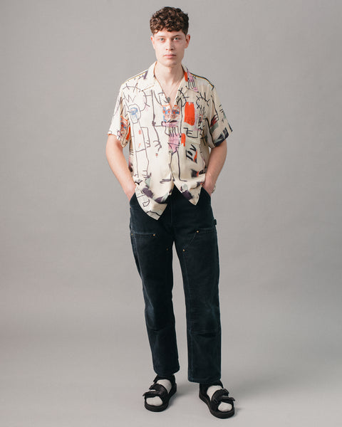 Jean-Michel Basquiat Hawaiian SS Shirt (Type-3) Multi