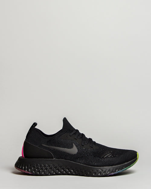 Epic React Flyknit Black/Pink Blast/Purple Pulse 1