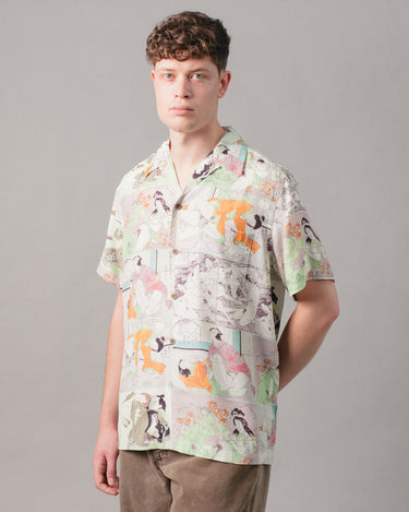Hawaiian Shirt S/S (Type-1) Green 1