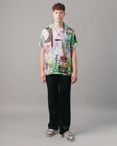Jean-Michel Basquiat Hawaiian SS Shirt (Type-1) Multi 2
