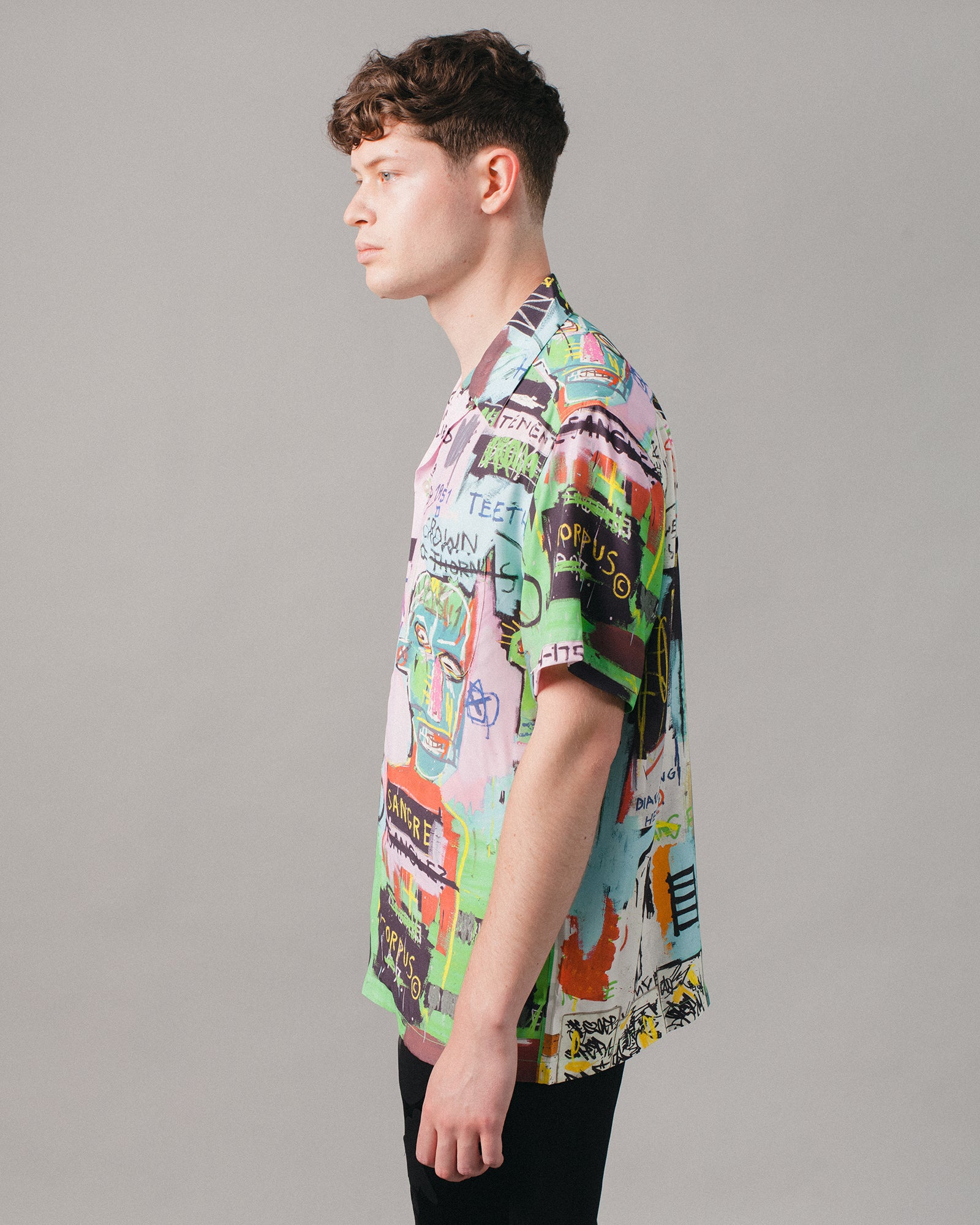 Jean-Michel Basquiat Hawaiian SS Shirt (Type-1) Multi