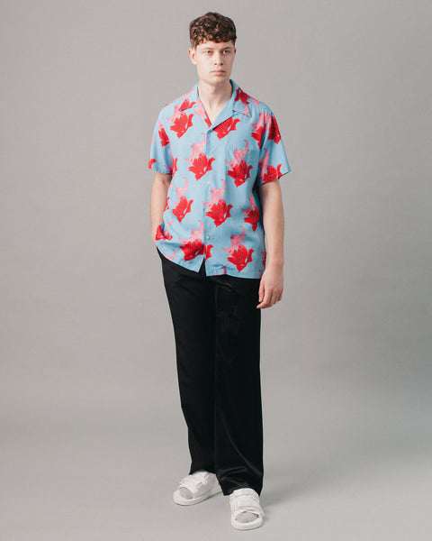 Hawaiian Shirt S/S (Type-2) Blue