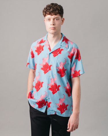 Hawaiian Shirt S/S (Type-2) Blue 1