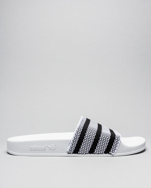 Adilette Knit White/Black Adidas Mens Sneakers Seattle