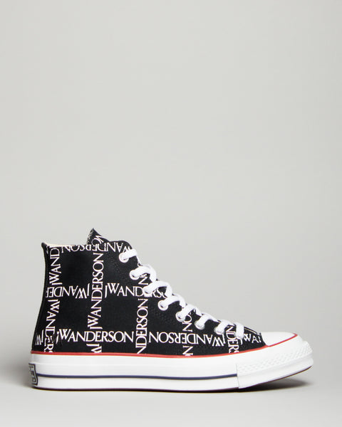 JW Anderson Chuck 70 HI Black/White/Insignia Red Converse Mens Sneakers Seattle