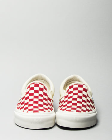 OG Classic Slip-On LX (Canvas) White/Red Checkerboard 2
