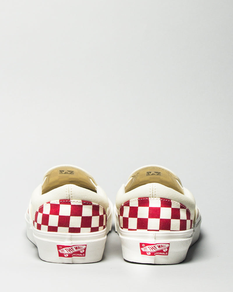 OG Classic Slip-On LX (Canvas) White/Red Checkerboard