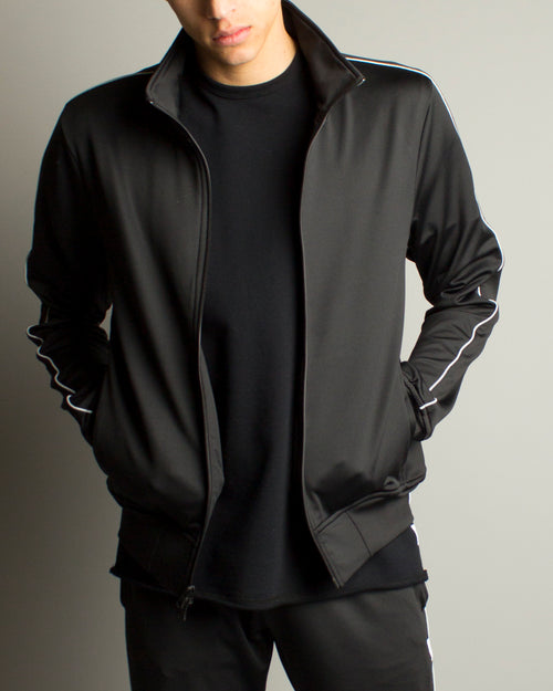 Coolmax Terry Track Jacket Black 1
