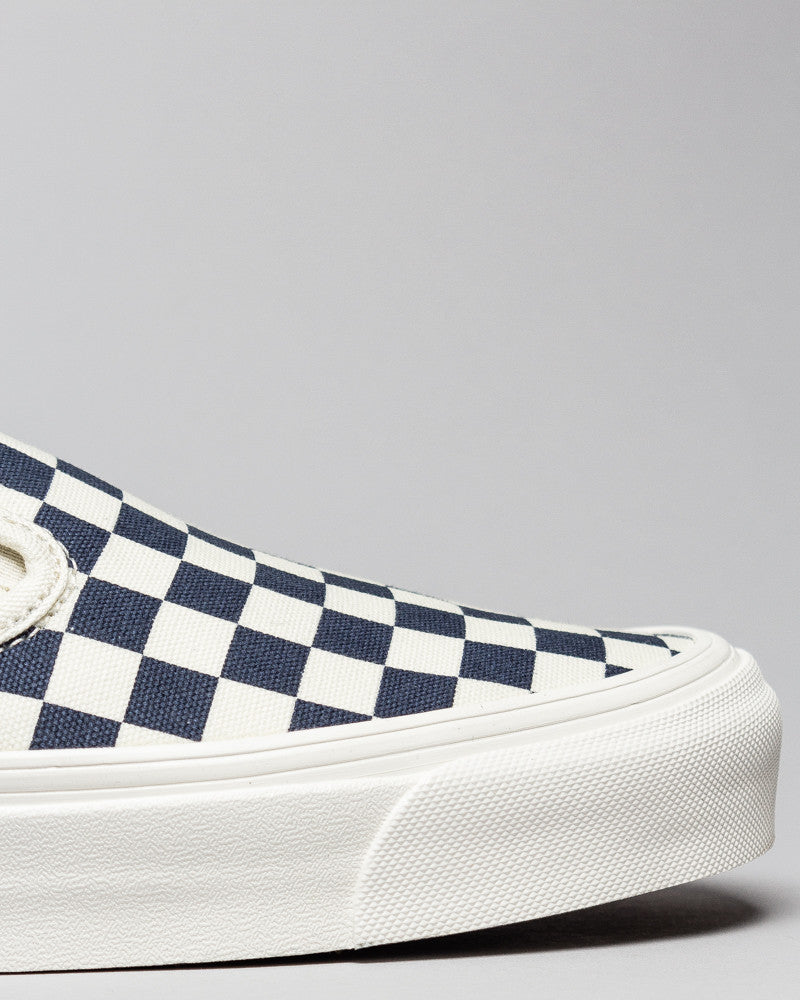 OG Classic Slip-on (Canvas) White/Navy Checkerboard