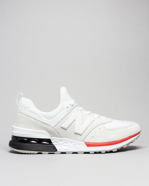 MS574AW White New Balance Mens Sneakers Seattle