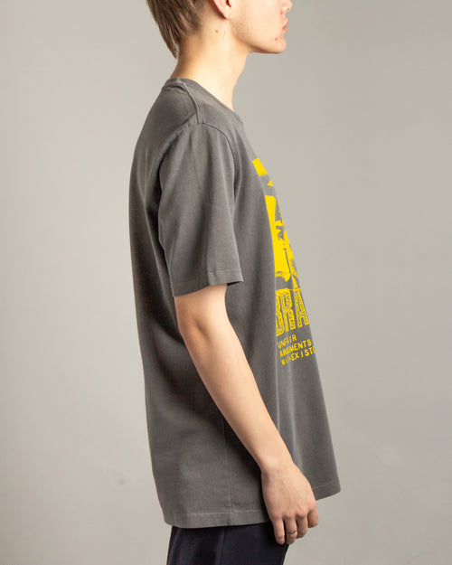 Brain Dead Pocket Tee Anthracite 2