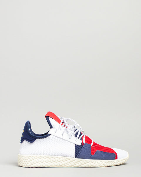 BBC HU V2 White/Scarlet/Dark Blue Adidas Mens Sneakers Seattle