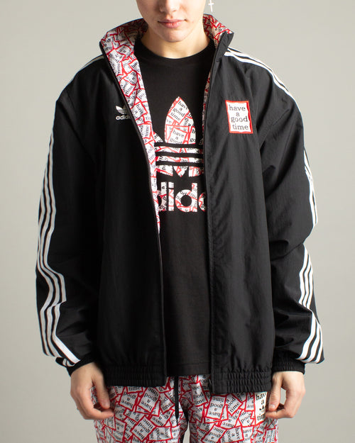 Have a Good Time Reversible Track Top Black 1