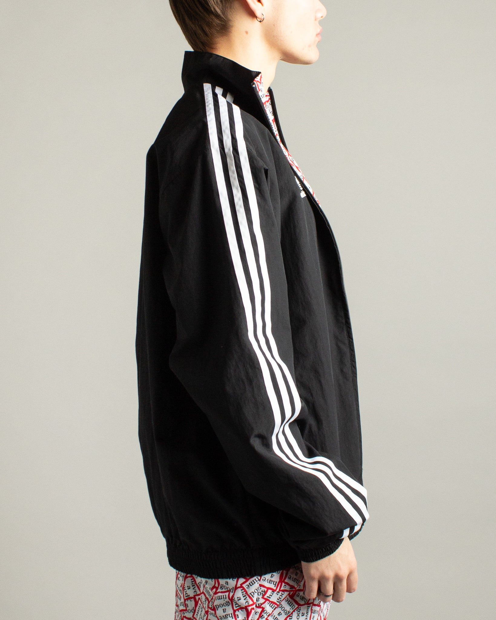Have a Good Time Reversible Track Top Black