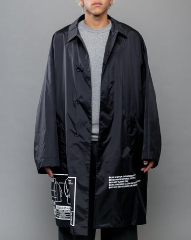 Nylon Graphic Coat Black 1