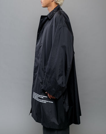 Nylon Graphic Coat Black 2