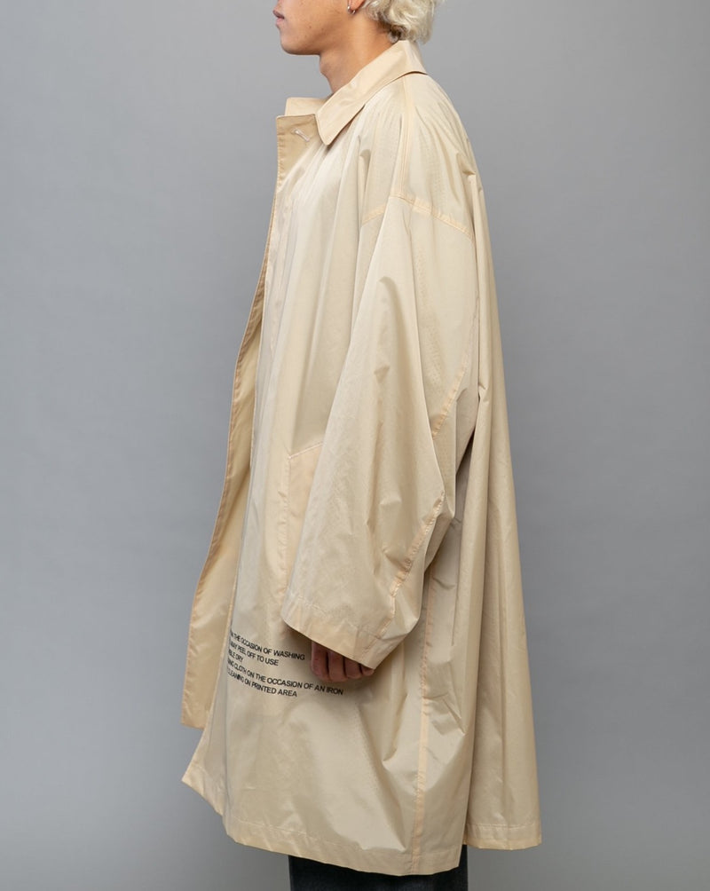 Nylon Graphic Coat Beige
