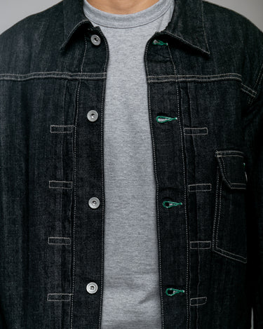 Stockman Type-A Denim Jacket Black 2
