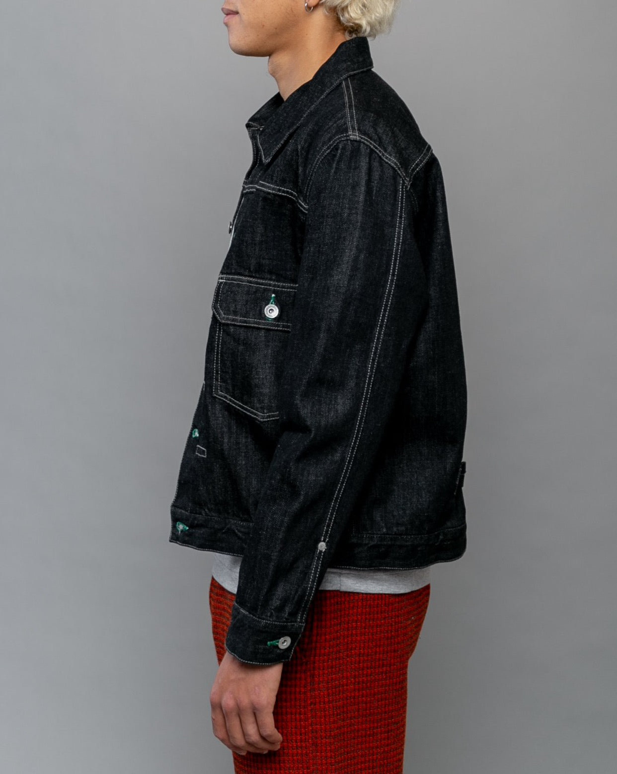 Stockman Type-A Denim Jacket Black