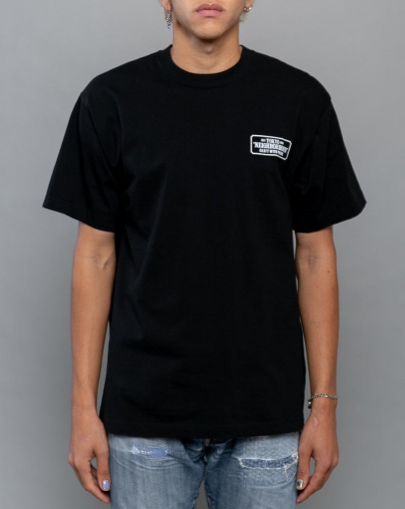 Bar & Shield Tee Black