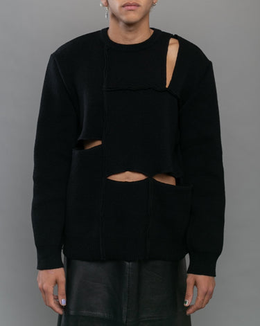 Pullover Knit Sweater Black 1