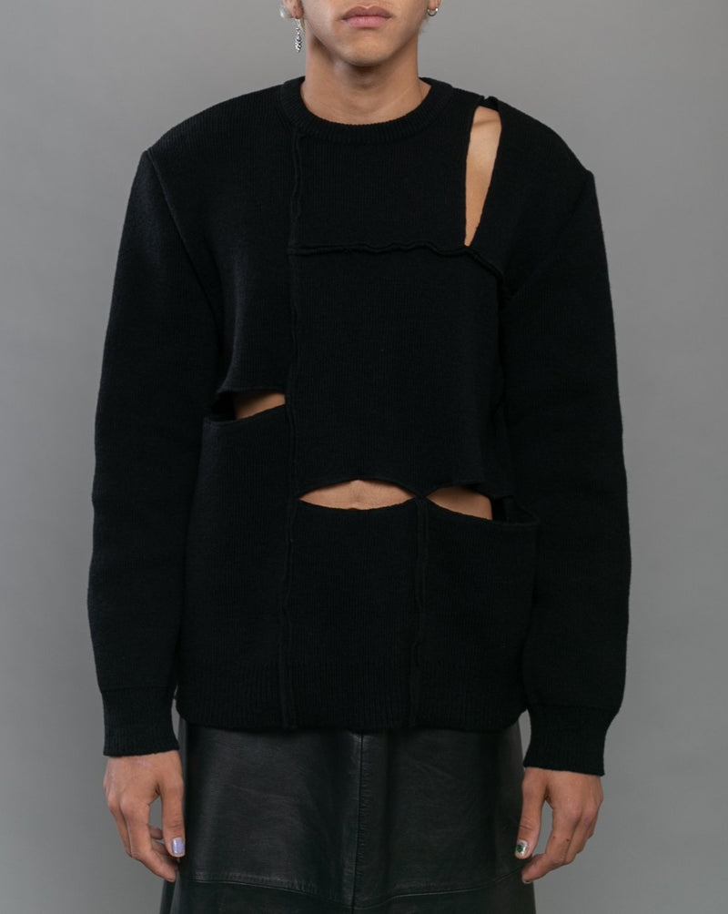 Pullover Knit Sweater Black