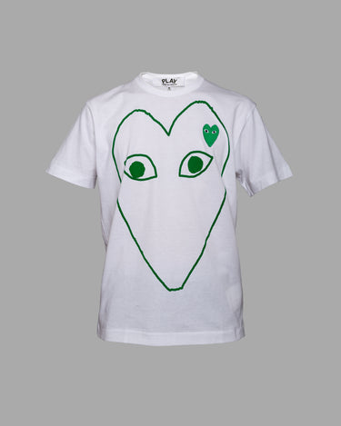 Green Heart T-Shirt White 1