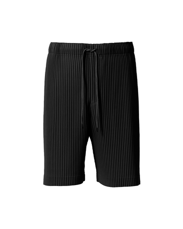 Pleats Shorts Black 1