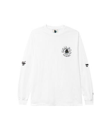 Exterminate LS Tee White 1
