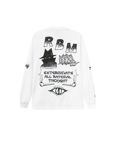Exterminate LS Tee White 2