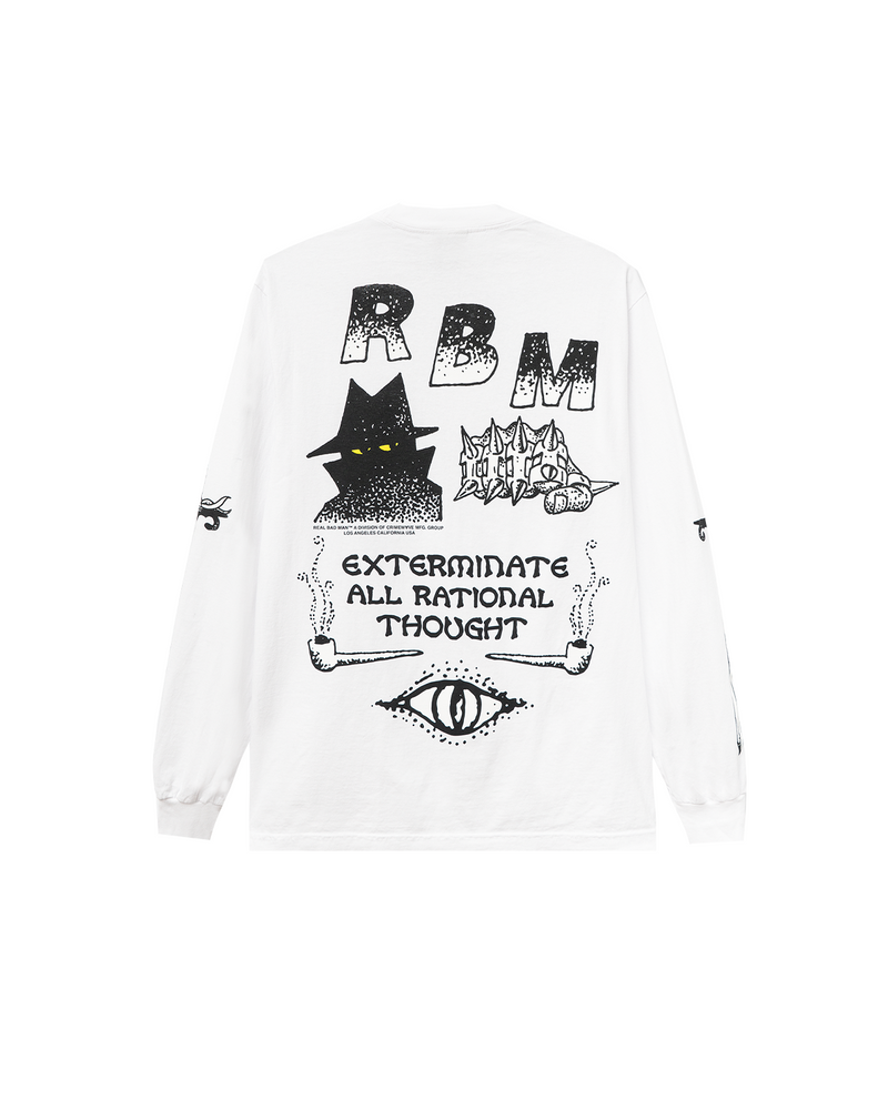 Exterminate LS Tee White
