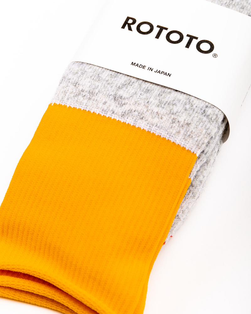 Thermal Fleece Socks Grey/Dark Yellow