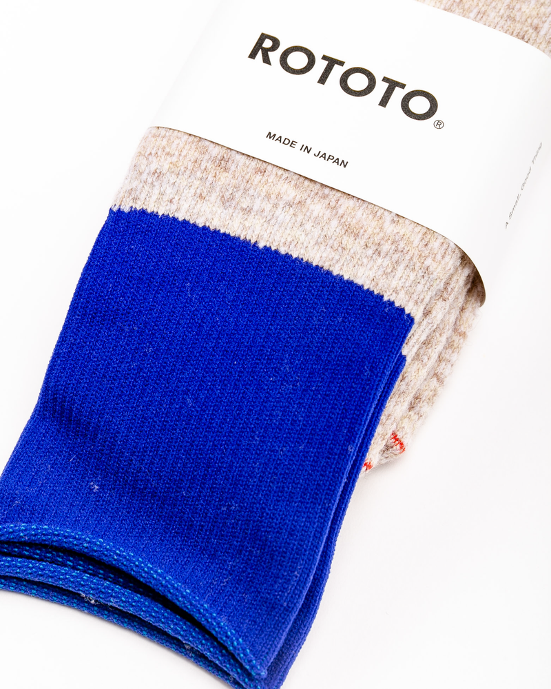 Thermal Fleece Socks Beige/Blue