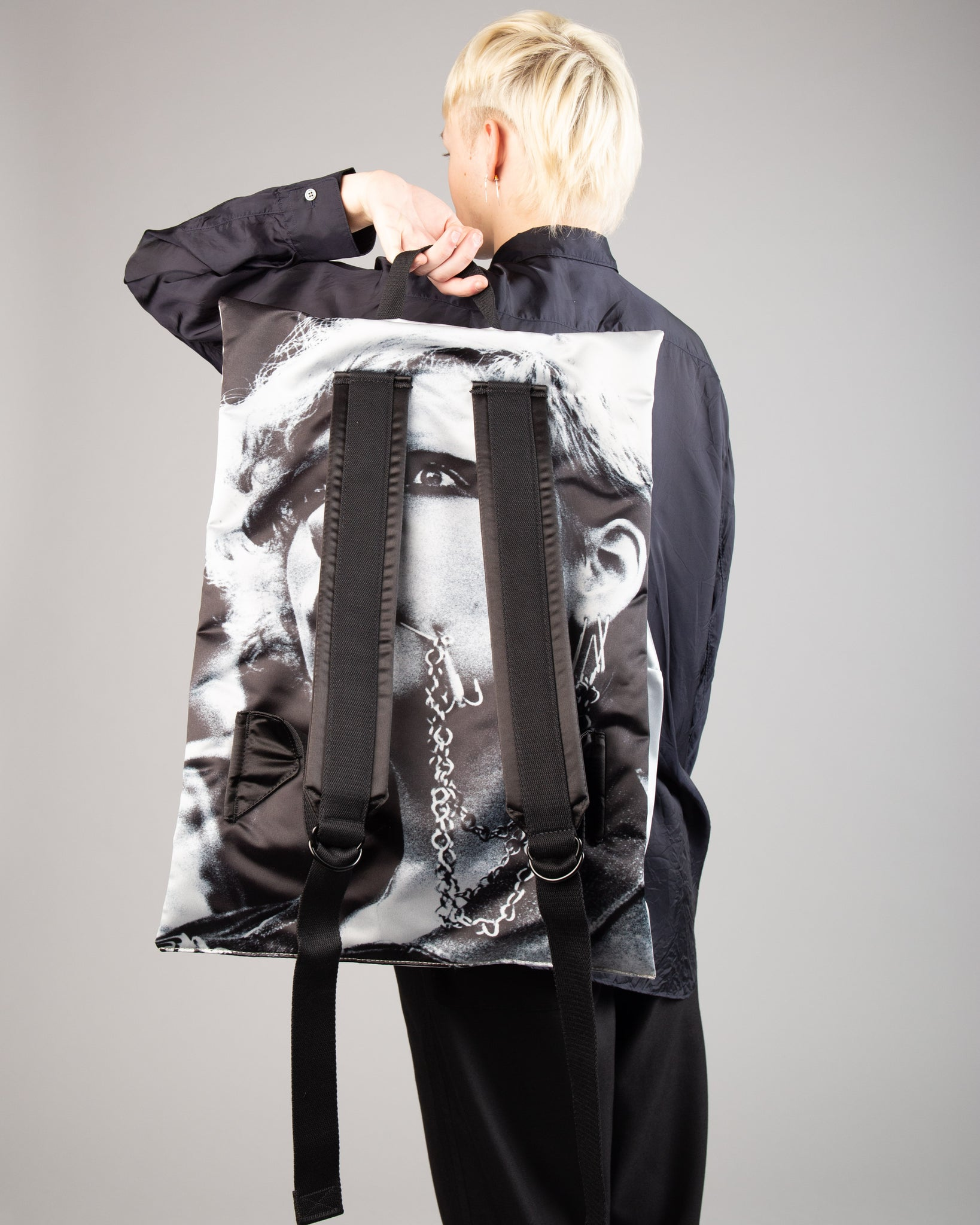 Raf Simons Poster Backpack Bl Cot Punk W