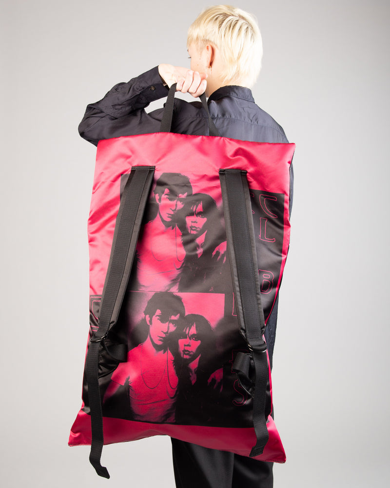 Raf Simons Poster Backpack Bl Sat Couple F