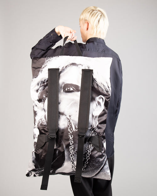Raf Simons Poster Backpack Bl Sat Couple W 2