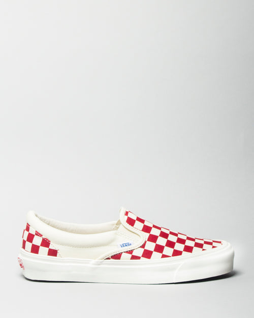 OG Classic Slip-On LX (Canvas) White/Red Checkerboard 1