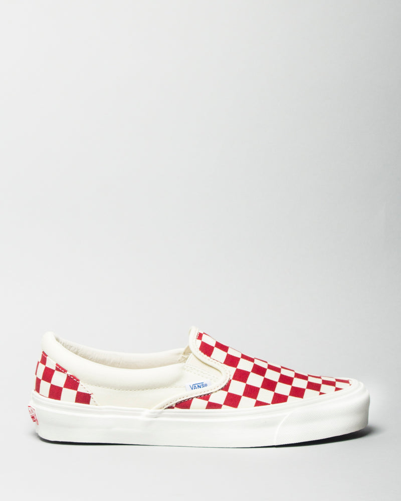 068deee827 OG Classic Slip-On LX (Canvas) White Red Checkerboard – LIKELIHOOD