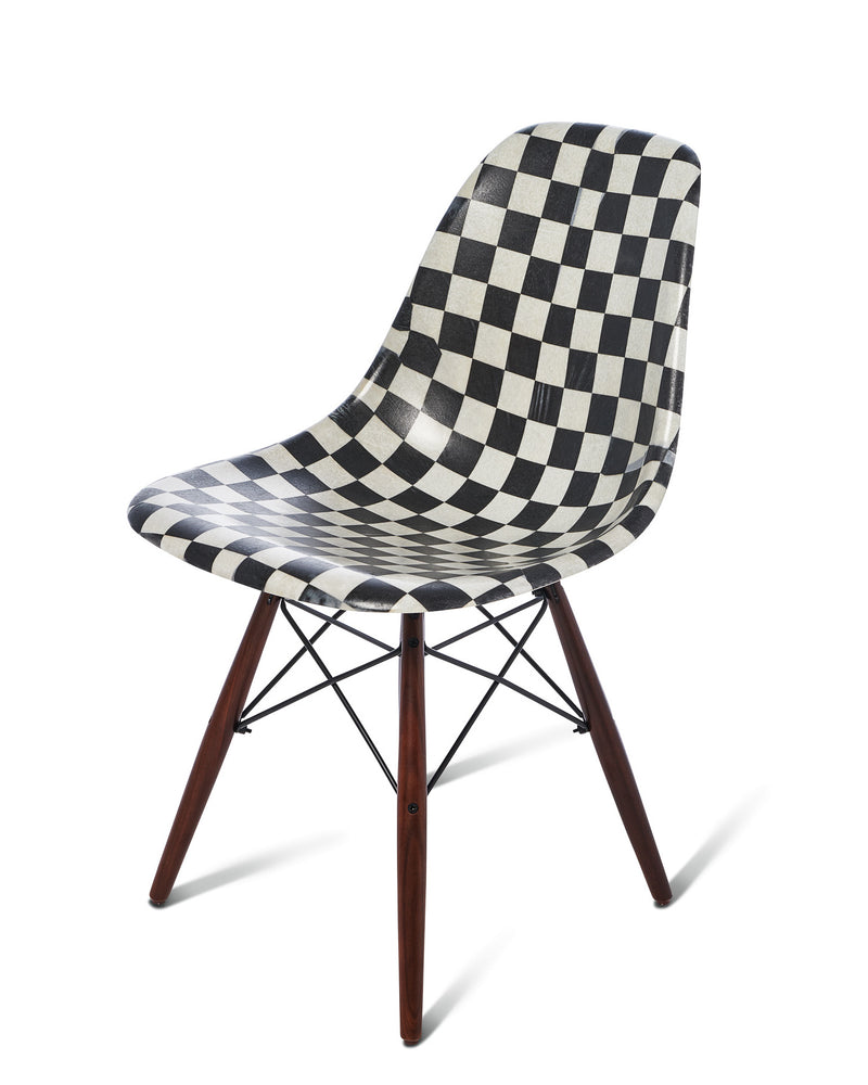 Modernica Shell Chair Checkerboard/Black Charcoal