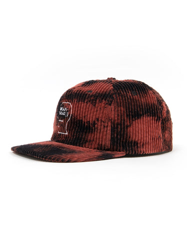 Bleached Cord Logo Head Hat Black 2
